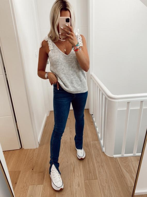 Jeans slim fendu COME