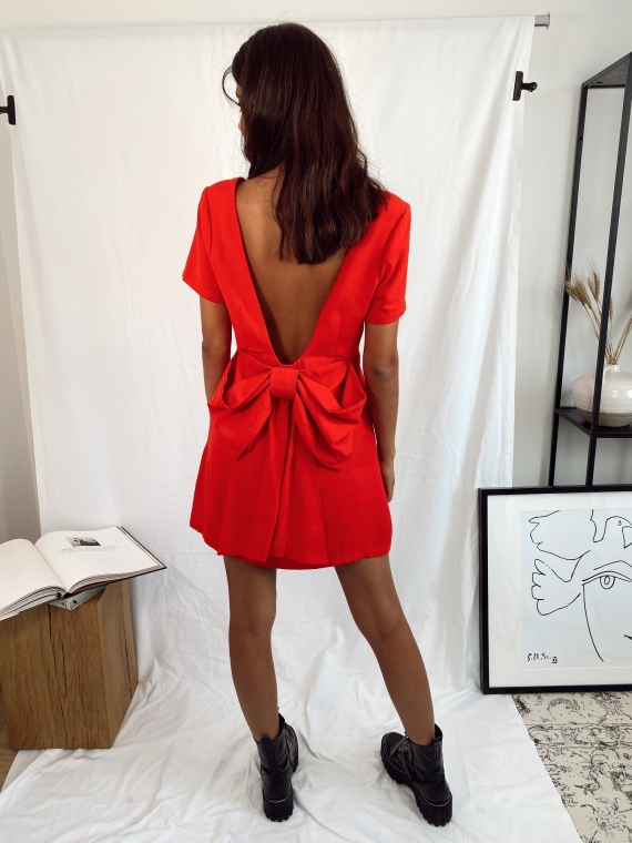 Red ICONIC knot dress