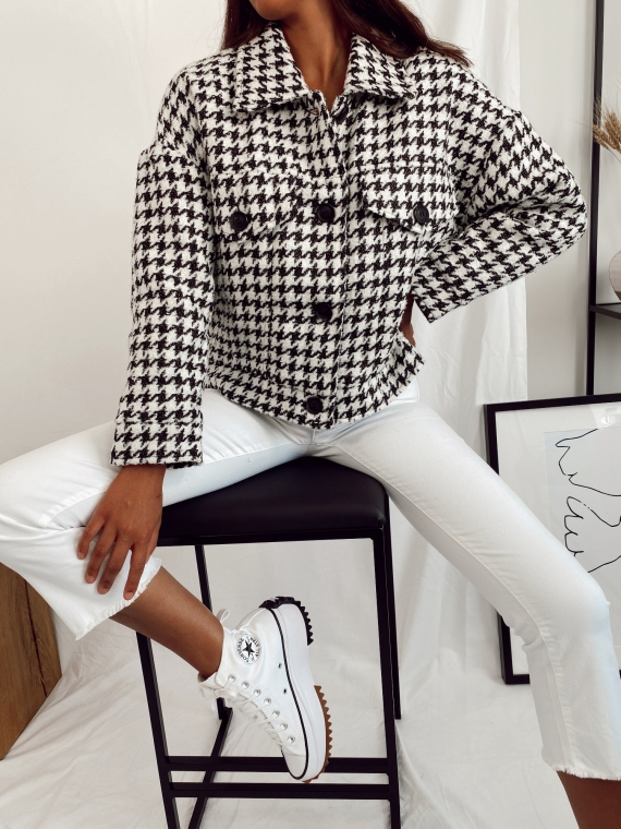 Black and white houndstooth GRENADE jacket