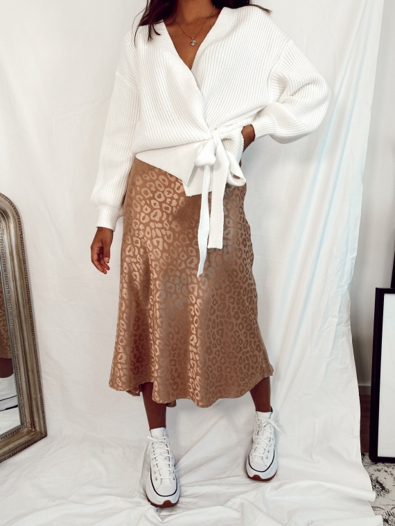 Beige PANTHERA skirt