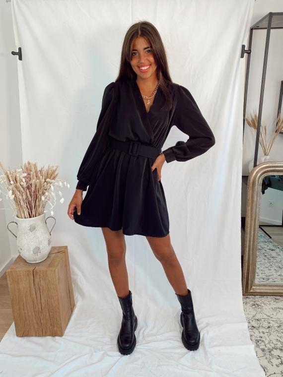 Robe drapée HOLLAND noire