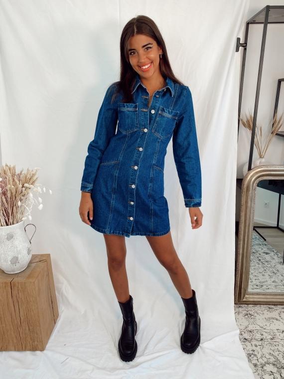 Robe en jeans DEMOISELLE bleue
