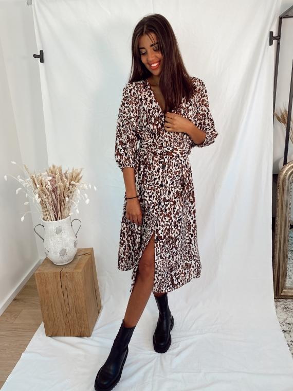 Camel JONES leopard dress