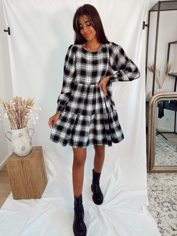 Black STOCKHOLM checkered dress