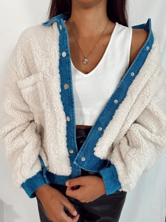 Sherpa MIRROR jeans jacket