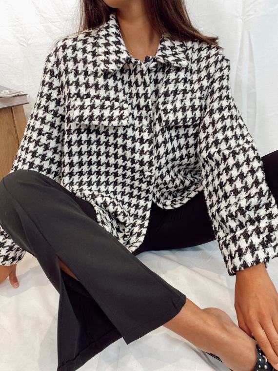 Houndstooth KARLIE thick shirt