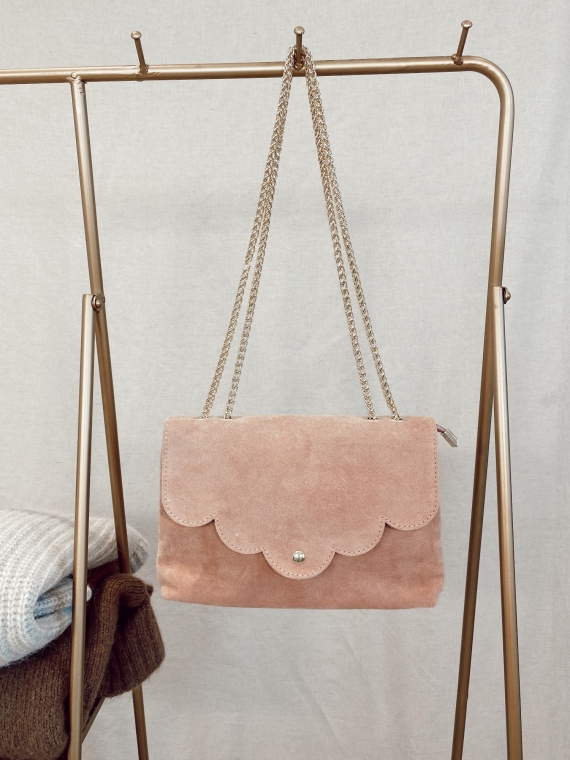 Sac en cuir SATISFY rose