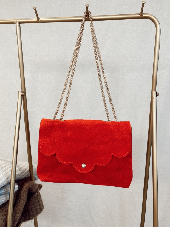 Sac en cuir SATISFY rouge
