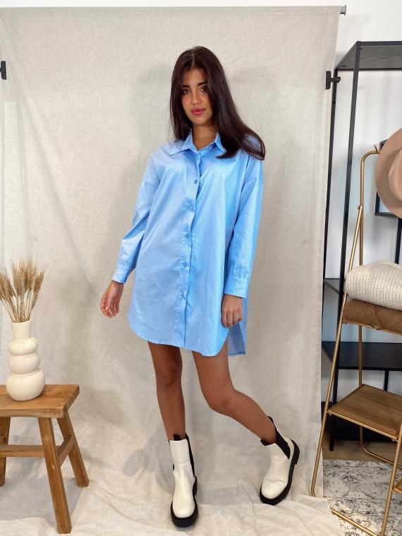 Robe chemise BELINI bleue