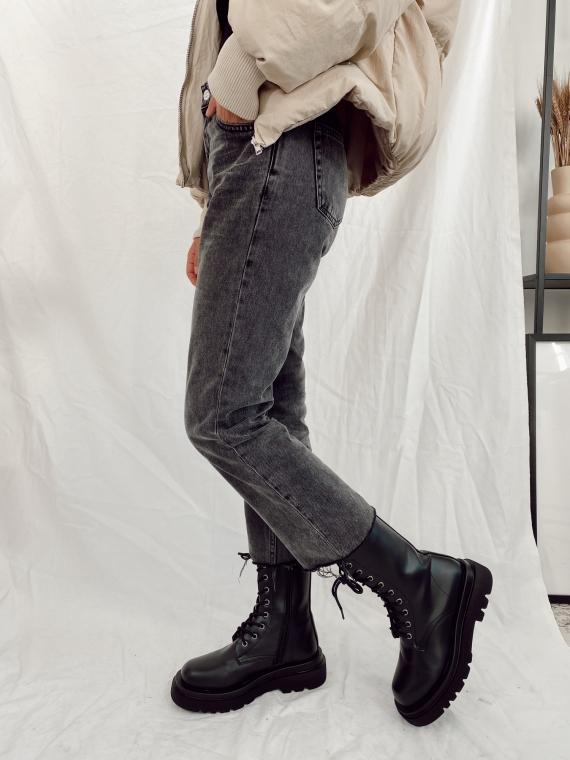 Boots à lacets CAPU noires