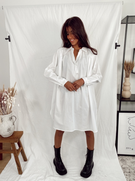 Robe chemise BLESS blanche