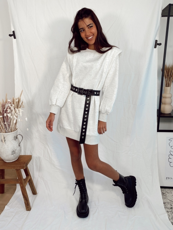 Grey MILEY sweater dress