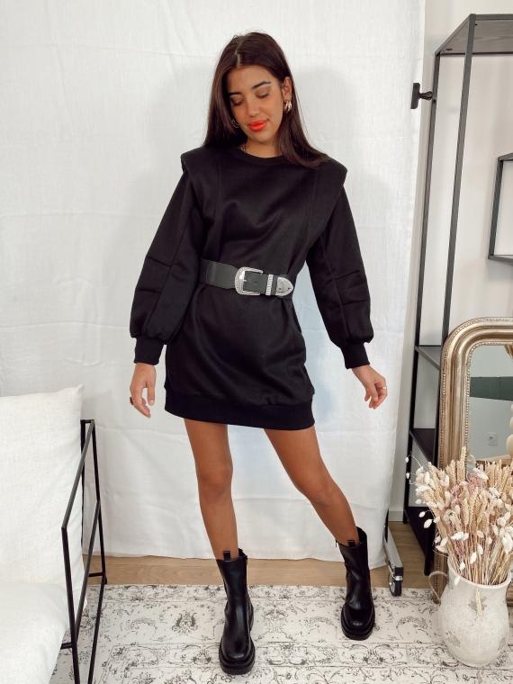 Robe épaules structurées MILEY noire