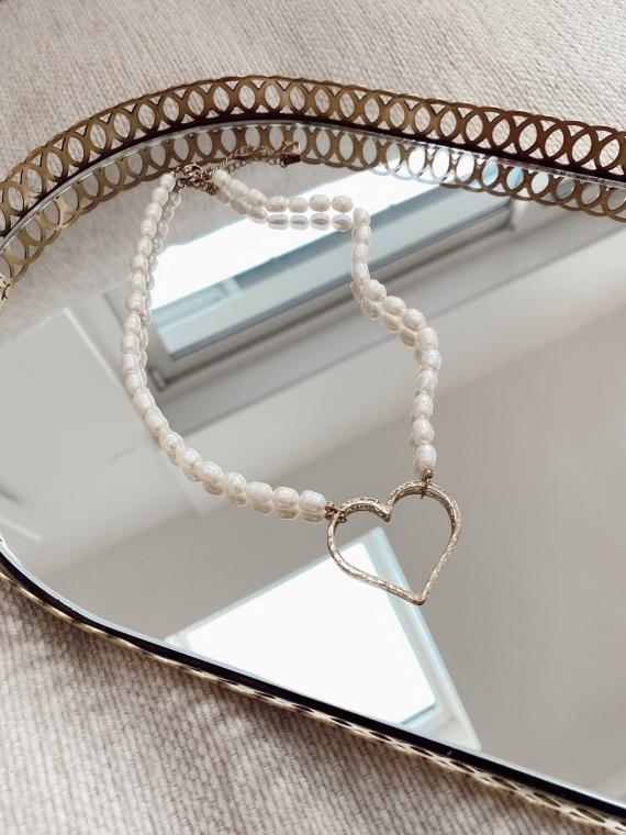 Collier perles coeur MADEN