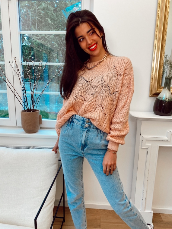 Light Pink ESME knit sweater