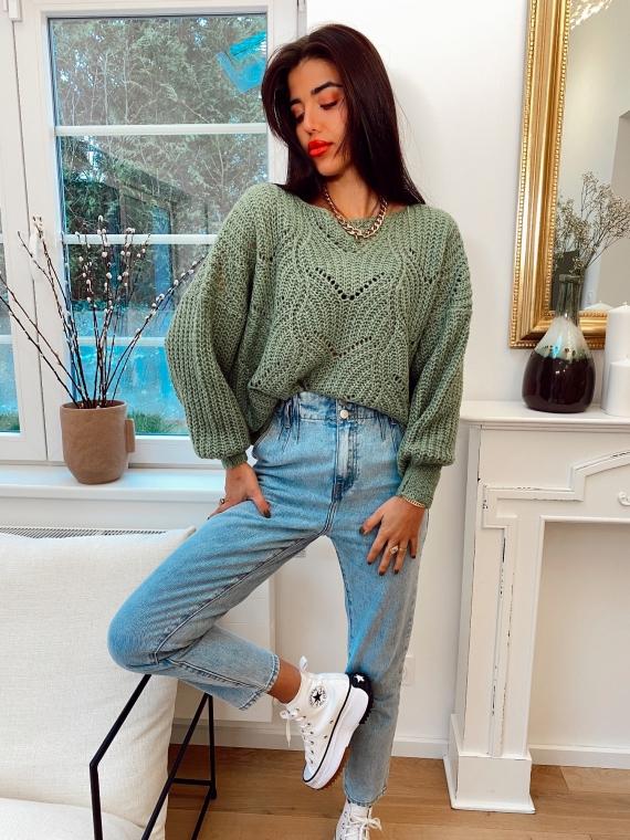 Green ESME knit sweater