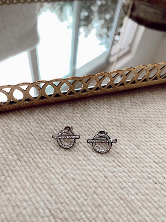Boucles d'oreilles RIKO argentées