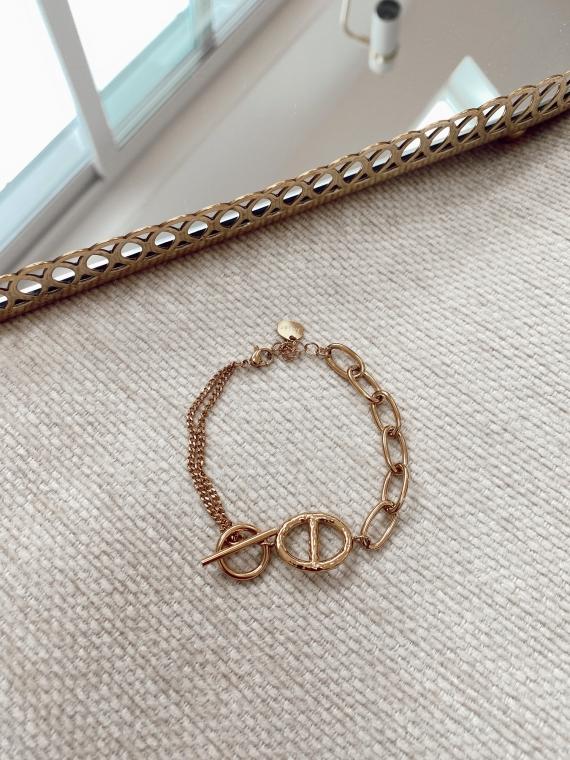 Bracelet multiples maillons SIDONI doré