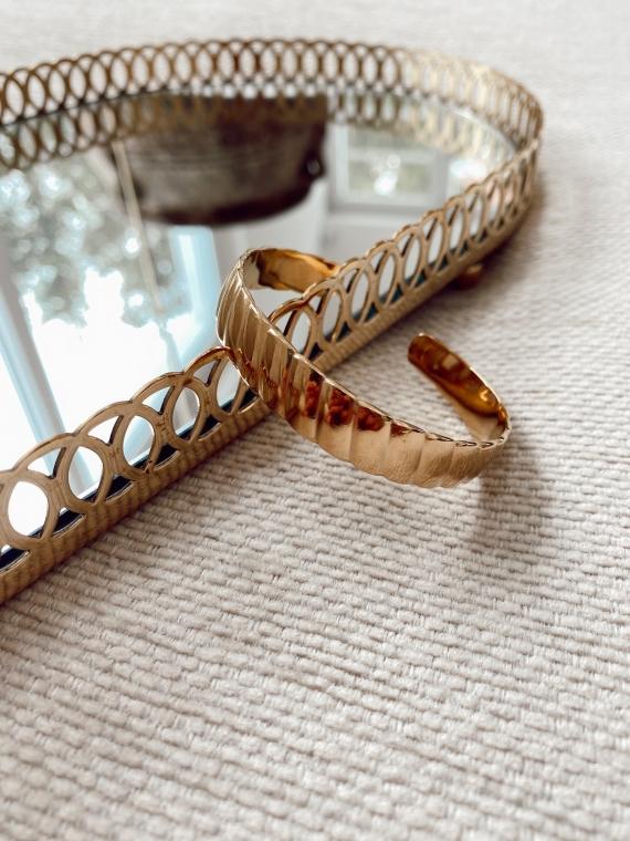 Bracelet jonc torsadé JOYCE doré