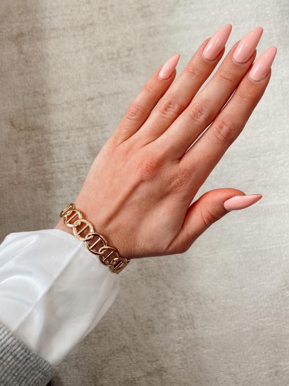 Bracelet jonc gros maillons VOLARE doré