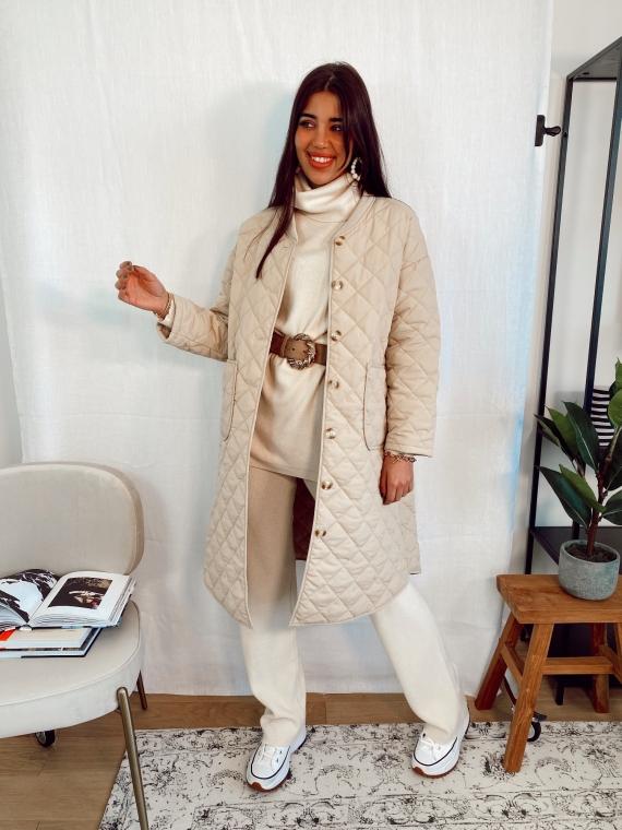Beige quilted jacket PENSEE