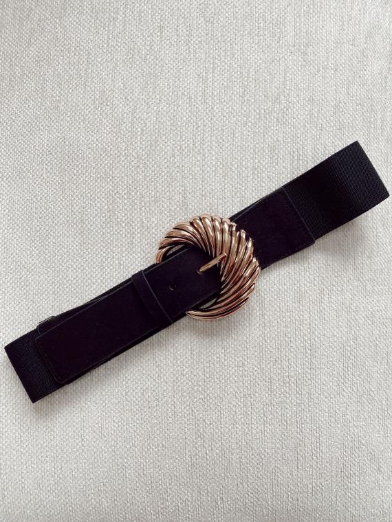 Ceinture élastique RHYDE en daim noire