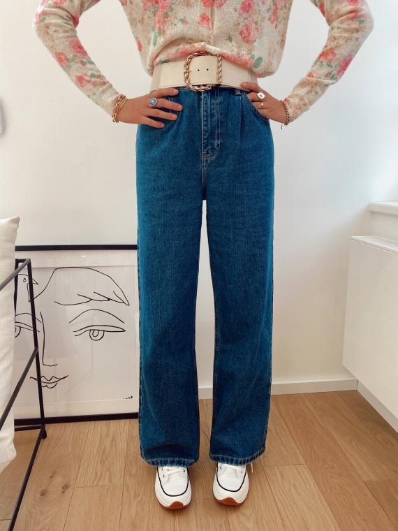 Jeans taille haute evasé TEDO bleu jeans
