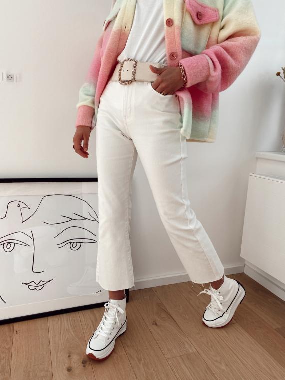 Jeans évasé dans le bas COVER blanc