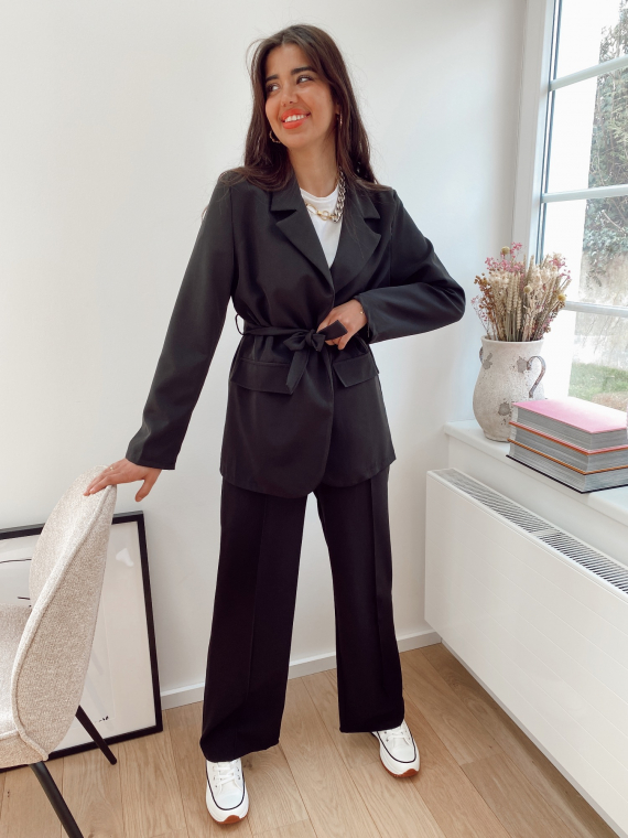 Black ATTICA blazer and pants set