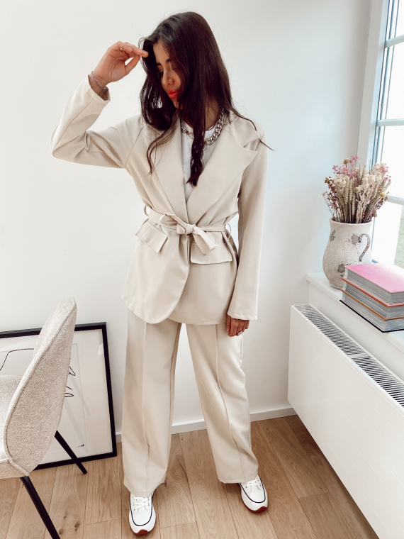 Beige ATTICA blazer and pants set