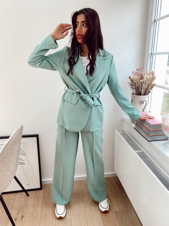 Green ATTICA blazer and pants set