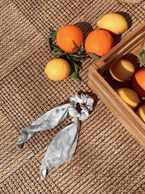 Grey Tie and Dye scrunchie