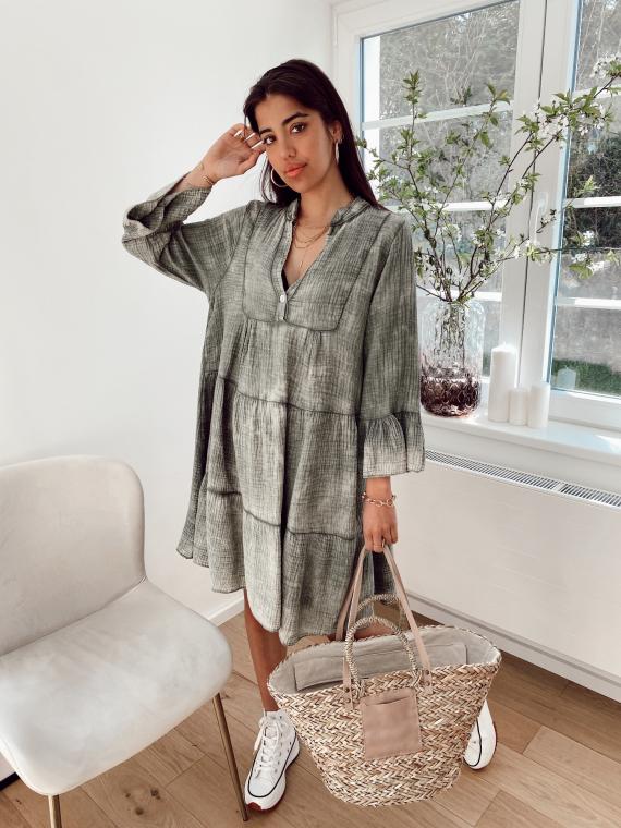 Kaki MARA babydoll dress