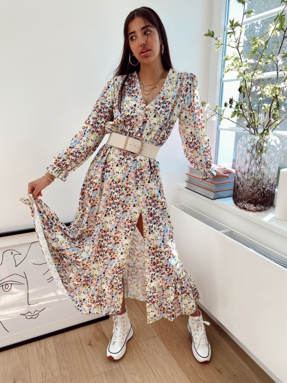 Green MUSE floral long dress