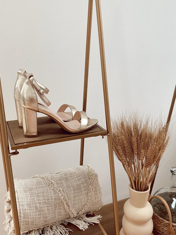 Sandales à talon GIANNI dorées