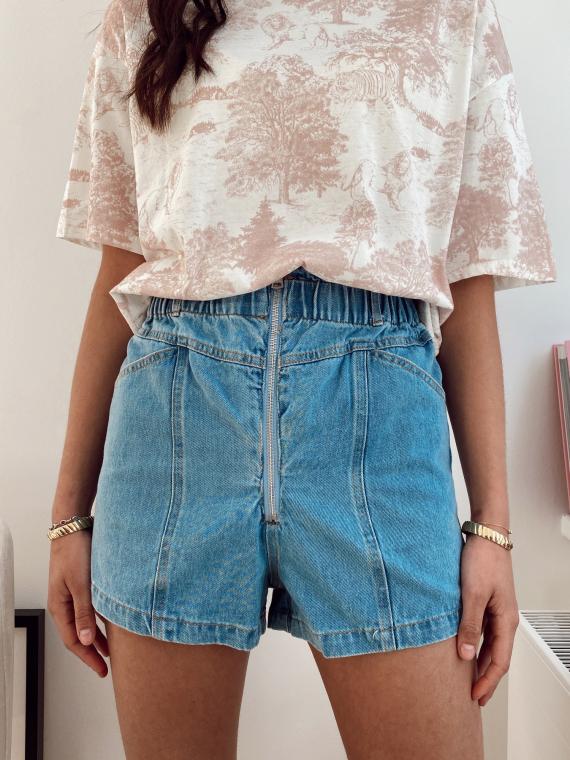 Short détail zip MELONE jeans