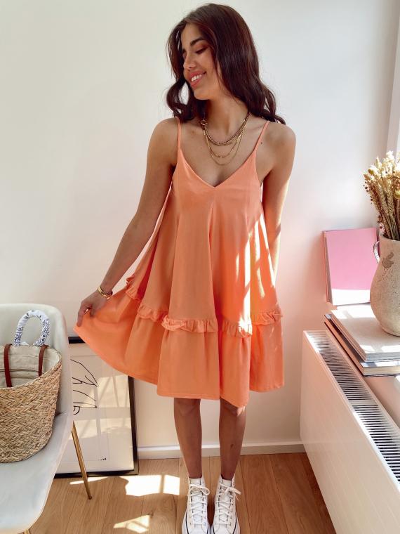 Robe évasée bretelles fines PRINSE orange