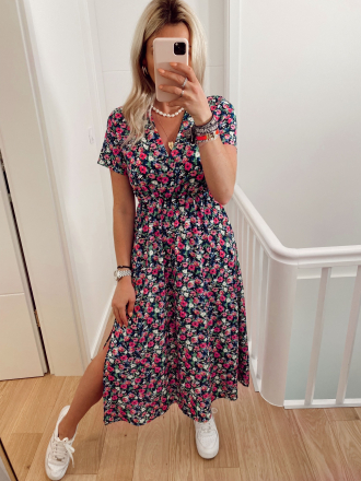 Robe longue fleurie TAYLOR
