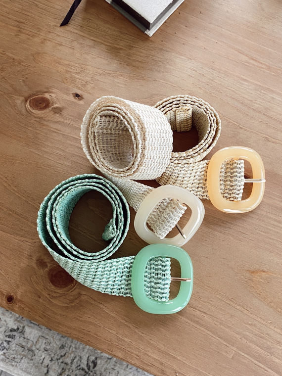 Pastel braided belt FLIND in green