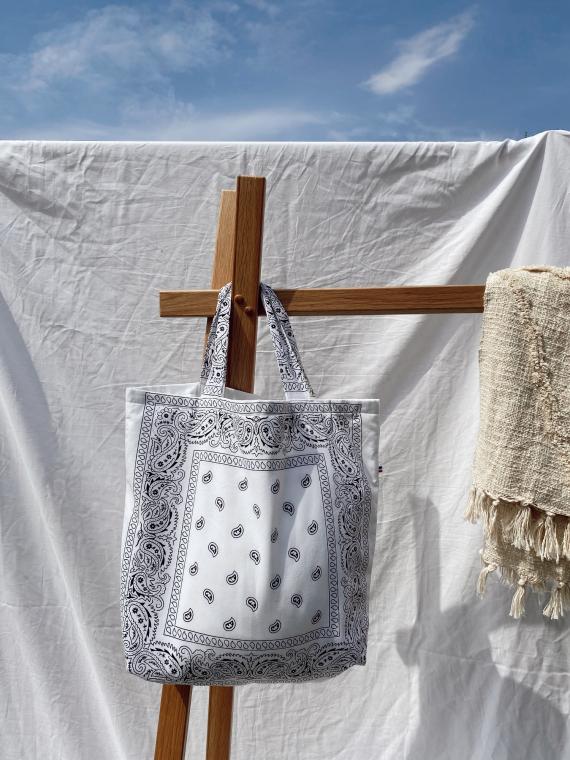 Tote bag BANDANA in white