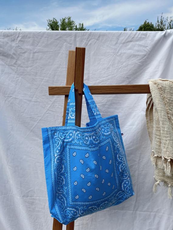 Tote bag BANDANA in light blue