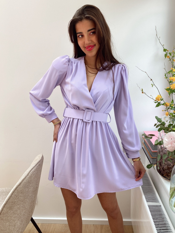 Robe drapée HOLLAND lilas