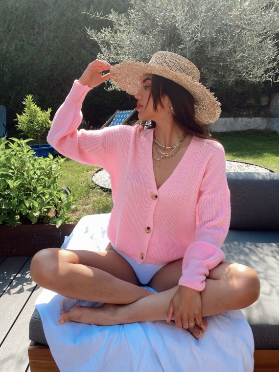 My soft knit jumper ENDLESS in pink