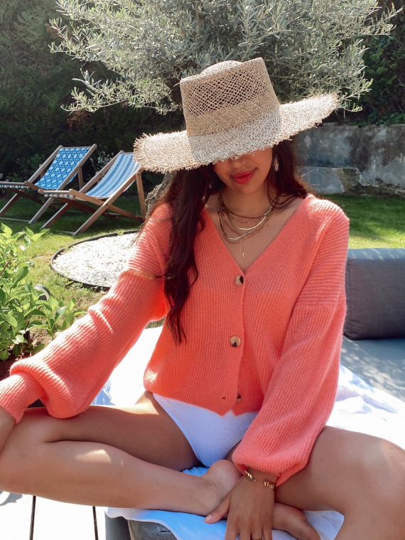 My soft knit jumper ENDLESS in coral