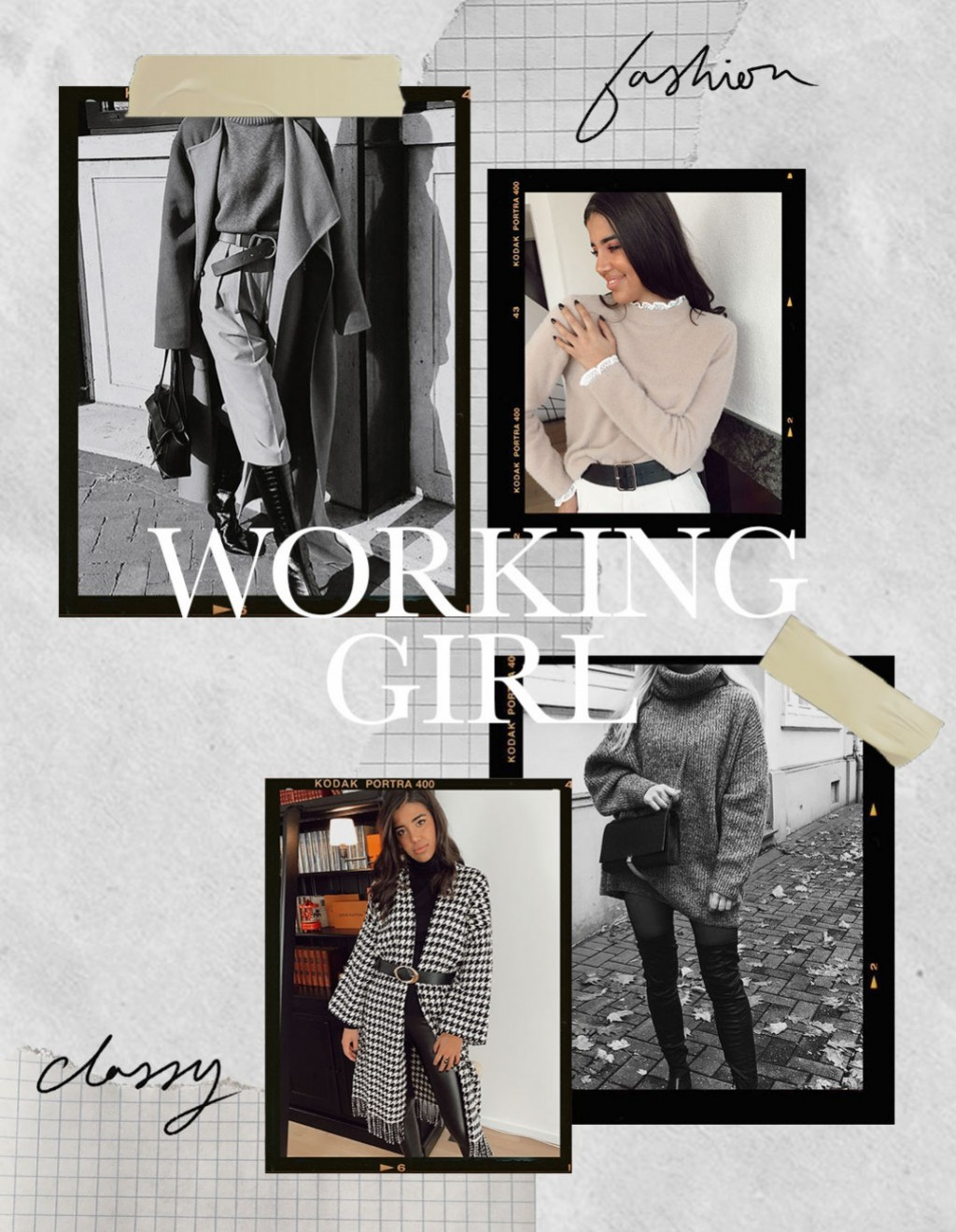 Un look de working girl en hiver
